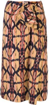 Ulla Johnson Ember Ikat print skirt