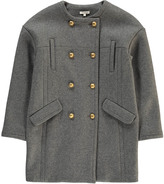 Chloé Flannel Coat with Officer Buttons