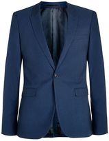 Topman Blue Twill Ultra Skinny Fit Suit Jacket