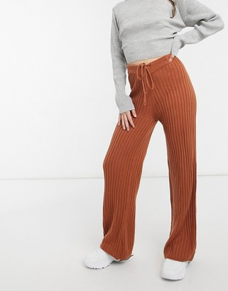 SNDYS Hendrix knit pants in rust