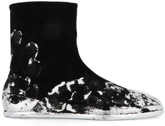 Maison Margiela Tabi Paint Splatter Effect Boots