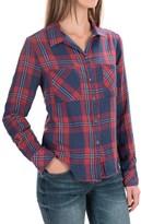 Seven7 Plaid Roll-Sleeve Shirt - Long Sleeve (For Women)