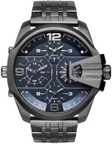 Diesel Men's Chronograph Uber Chief Gunmetal Ion-Plated Stainless Steel Bracelet Watch 55x62mm DZ7392