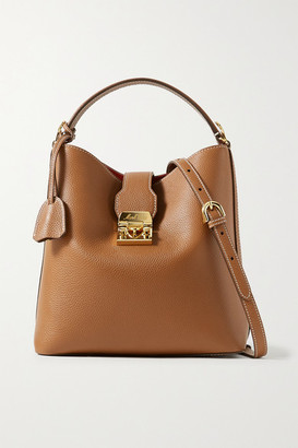 Mark Cross Murphy Large Textured-leather Bucket Bag - Light brown
