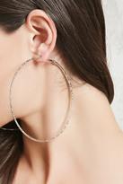 Forever 21 FOREVER 21+ Textured Hoop Earrings