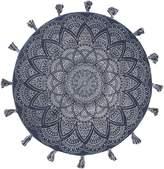Rug Culture Lillu Handmade Round Rug, Blue, 120x120cm