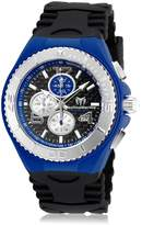 Technomarine Men's Black Silicone Band Steel Case Quartz Analog Watch 115297
