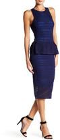 Rachel Roy Fitted Lace Peplum Dress