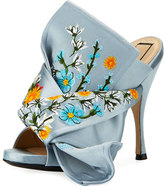 No.21 No. 21 Embroidered Satin Bow Mule Sandal, Blue