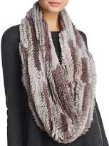 Jocelyn Rex Rabbit Knitted Infinity Scarf