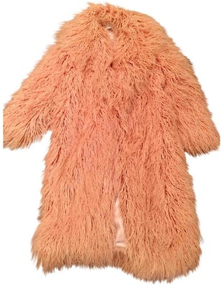 House Of CB Pink Faux fur Coat for Women