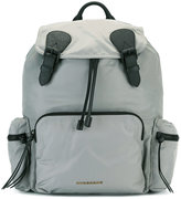 Burberry buckled backpack - men - Cotton/Calf Leather/Acrylic/Nylon - One Size