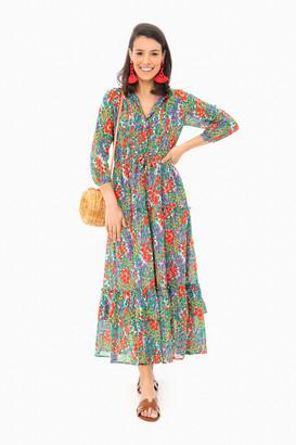 Banjanan Cottage Garden Poppy Multi Bazaar Dress