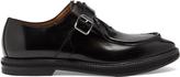 Alexander McQueen Zip monk-strap leather shoes
