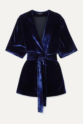 Kiki de Montparnasse Velvet Robe - Navy