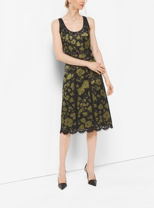 Michael Kors Floraflage Silk and Lace Dress