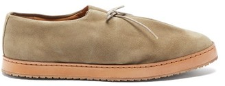 Jacques Soloviere - Miles Lace-up Suede Loafers - Beige