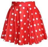 SAYM Women Girls Stretchy Polka Dot Fla Casual Mini Skirt