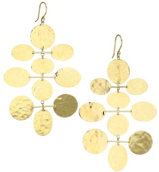 Ippolita Classico 18K Yellow Gold Crinkle Mobile Drop Earrings