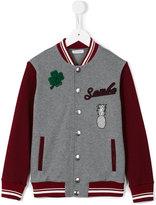 Dolce & Gabbana varsity bomber jacket - kids - Cotton/Polyester/Acetate/Wool - 3 yrs