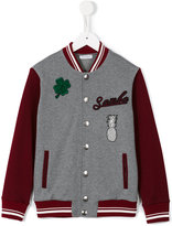 Dolce & Gabbana varsity bomber jacket - kids - Cotton/Polyester/Acetate/Wool - 4 yrs
