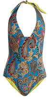 Etro Abstract paisley-print swimsuit