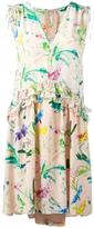 No.21 floral print V-neck dress - women - Silk/Acetate - 40
