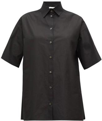 The Row Sissa Short-sleeved Poplin Shirt - Black