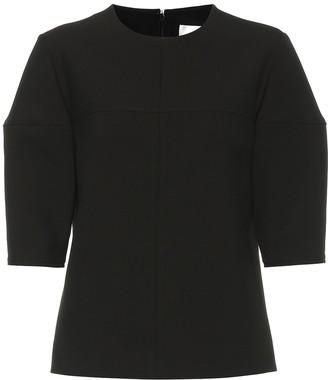 Victoria Victoria Beckham Structured-sleeve stretch top