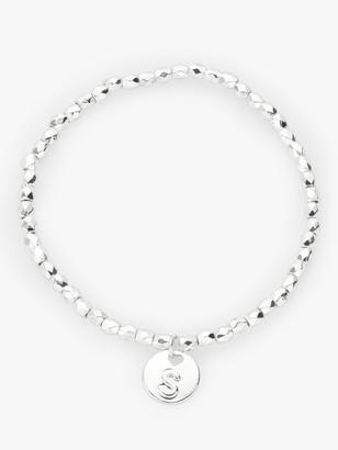 John Lewis & Partners Children's Silver Plated Initial Bracelet, Silver