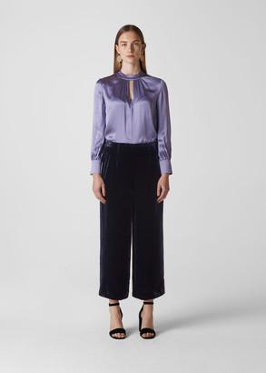 Velvet Silk Mix Trouser