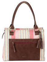 OiOi Nomadic Stripe Tote Diaper Bag in Multicolor