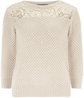 Dorothy Perkins Tall pink lace panel jumper