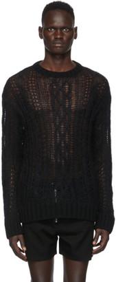 TAKAHIROMIYASHITA TheSoloist. Black Wool Aran Sweater