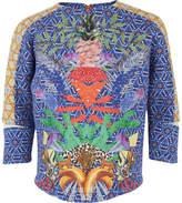 Scotch R'Belle Geometric and Hawaiian Printed Neoprene Sweater