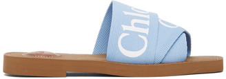 Chloé Blue Woody Flat Mules