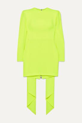 Alex Perry Roberts Draped Satin-crepe Mini Dress - Chartreuse
