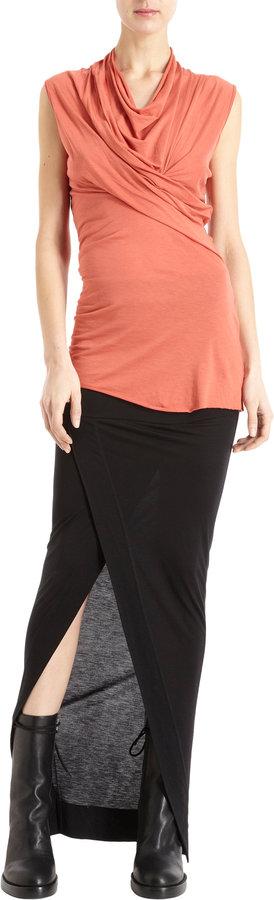 Rick Owens Cross-Drape Front Skirt