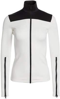 Proenza Schouler White Label Colorblock Cotton Zipper Track Top