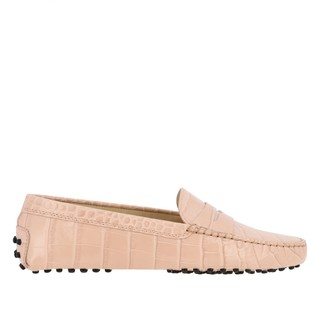 Tod's Tods Loafers Tods New Gommini Loafer In Croco-print Leather With Sleeper