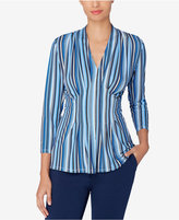 Catherine Malandrino Catherine Striped Pleated Top