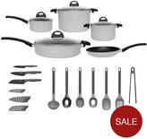 Berghoff Eclipse Induction 15-piece Starter Cookware And Utensil Set In Soft Grey