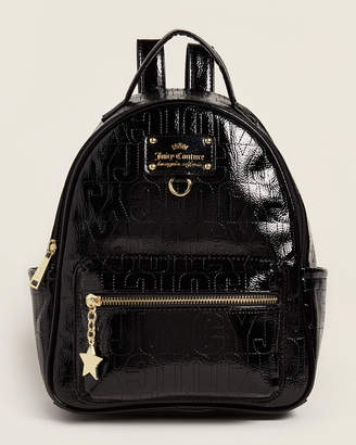 Juicy Couture Black Ever After Patent Backpack