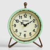 Aqua Metal Hairpin Clock