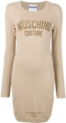 Moschino 'standard size' fitted dress