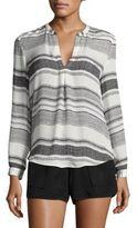 Joie Obeline B Striped Silk Blouse