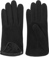 Rag & Bone Moto leather-trimmed suede gloves