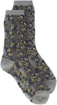 Y's floral print sheer socks