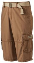 UNIONBAY Men's Ripstop Belted Messenger Cargo Shorts