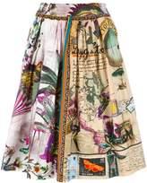 Etro butterflies print A-line skirt